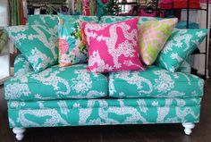 A perky sofa no home sweet home should go without!