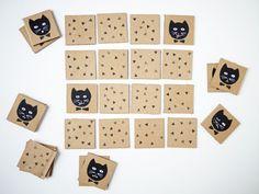 Cat's matching game by La maison de Loulou for Les enfants Terribles magazine