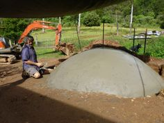 Biogas biodigester cement dome