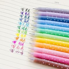 18 pcs/Lot Gel pens Candy jelly color pen caneta Kawaii korean Stationery Office supplies material school Canetas F239