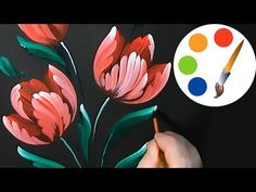 One Stroke Painting with Donna Dewberry - How to Paint in Geraniums, Pt. 4 Finishing Touches - YouTube