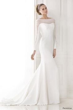 Atelier Pronovias 2015 #bridal preview collection: Kainda illusion long sleeve #wedding dress #weddinggown #weddingdress