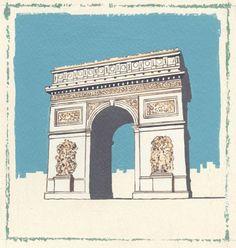 arc-de-triumph ARTWORKS BY MARTIN WISCOMBE & JENNY WISCOMBE