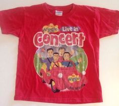 The Wiggles Concert Live Red T Shirt Size 4T Big Red Car