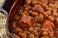 We used to eat this for Saturday night dinners at home  when I was a kid, along with brown bread from a can. Franks and Beans | A Saturday Night Tradition