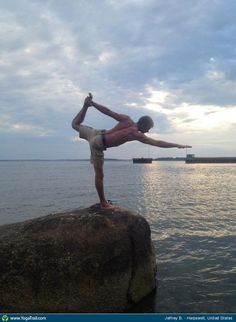 "Anywhere #Yoga Contest: ""My 14 Year took this during a weekend together along the coast of Maine. Namaste"" visit website: http://yogayourwaytohealth.blogspot.com"