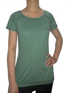 a4407e33837 East Village Womens Lightweight Cotton Tee Green S