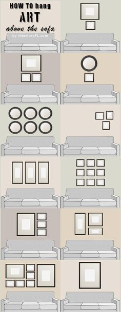 How to hang art above the sofa | best from pinterest