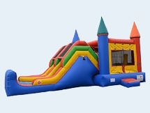 This bouncy house/ inflatable slide looks like it's a lot of fun to play on. My kids really like playing on inflatable rentals. Renting one for my son's next birthday would be a great way to surprise him, so getting an inflatable with ball pit and a slide would be something that he and his friends would enjoy.