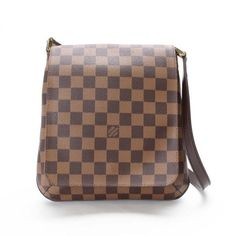 Louis Vuitton Musette Salsa Long Damier Ebene Shoulder bags Brown Canvas N51300