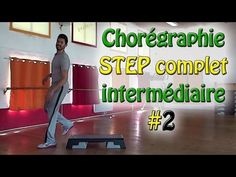 Chorégraphie step intermédiaire #2 - STEP complet français - Apprendre le step - YouTube No Equipment Workout, Workout Gear, Gym Workouts, Exercice Step, France, Workout Programs, Motivation, Fitness, Wrestling