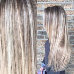Painted hair. Ombre. Baby light. Balayage. Blonde hair. Redken color.