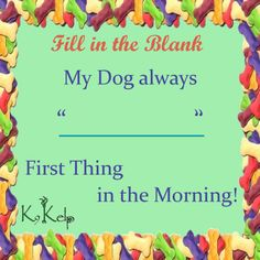 """Time for """"Fill in the Blank"""".... #dog #dogs #quote #fillintheblank #doglover #dogmorning #k9"""