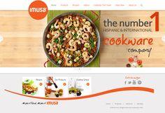 Imusausa.com main page #pots #pans #webdesign
