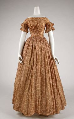 Dress ca. 1847 via The Costume Institute of the Metropolitan Museum of Art