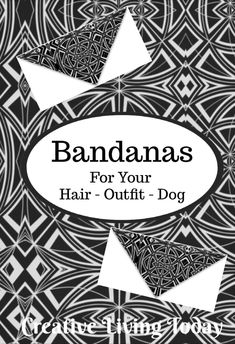 Bandanas for Your Hair, Outfit or Your Dog in a Unique Black & White Geometric Design Christmas Gifts For Kids, Kids Gifts, Small Gifts, Unique Gifts, Cute Birthday Gift, Presents For Kids, Childrens Gifts, Bridesmaids And Groomsmen, Personalized Christmas Ornaments