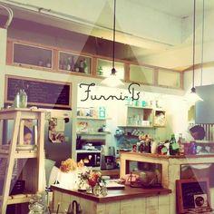 Brunch cafe interior