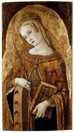 Vittore Crivelli(Italian artist, c 1440-1501)St Catherine of Alexandria