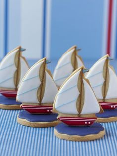 Brilliant Boys Birthday Sail Boat Cookies by Zoe Clark Cakes                                                                                                                                                                                 More