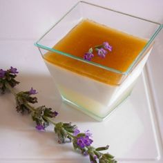 Panna cotta alla lavanda e latte di riso #italianfood #italianrecipes #pannacotta