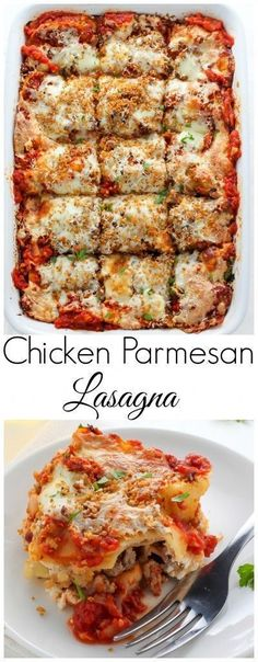 We love a good dinner recipe that can be prepped ahead of time in about 30 minutes and frozen for a busy night, like this Chicken Parmesan Lasagna. #MealPrep #EasyDinners #Lasagna #Chicken