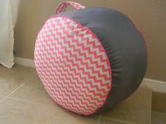 Overstuffed Floor Pouf QUALITY Designer Fabric by SandHcreate, $30.00