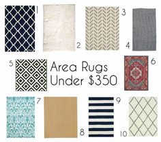 Sadie Road: Organized & Styled - 10 Area Rugs Under $350