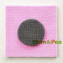 Mãe e Pea 0983 frete grátis malha padrão em forma de bolo de Silicone molde…