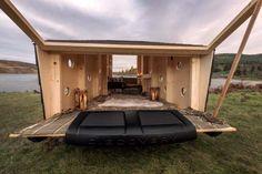 land rover cabin