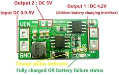 DC1.5V-3.7V To 4.2V 5V Boost Step-Up Charging Module For Battery Charger - Stabilivolt Module - Arduino, Robotics, Raspberry Pi, ESP8266, Learning DIY, Development board ICStation