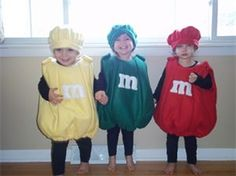 Homemade Halloween Costumes for Twins 4 - BestMomsTV : BestMomsTV Halloween 2016, Halloween Kids, Halloween Party, M&m Costume, Costume Ideas, Homemade Halloween Costumes, Let's Pretend, How To Have Twins, Baby Costumes