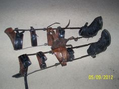 Vintage Antique Science Medical Leg Braces----You can tell that this is a child's long leg brace.