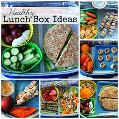 Healthy Lunch Box ideas....these are a bit more realistic for my family