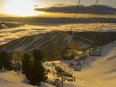 You may be tempted to ride the chairlift up and down Big Sky's Lone Mountain just to take in Montana's spectacular snowscapes. Take a look!
