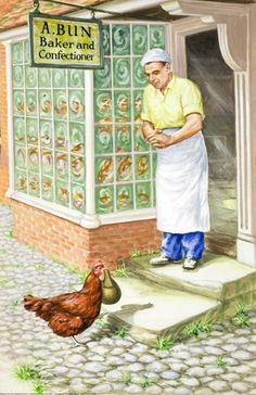 Flour to the baker - Little Red Hen - Robert Lumley - Ladybird Book
