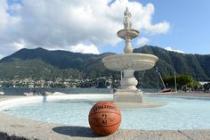 The game ball takes a trip to Lake Como in Milan Italy with the Boston Celtics for the 2015 #NBAGlobalGames