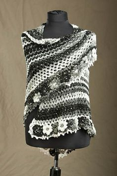 Ravelry: Flowers Edge Crocheted Shawl pattern by Rozetti Yarns