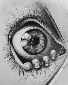 Eyeball art in 2019 art drawings, drawings, tattoo drawings Creepy Drawings, Dark Art Drawings, Tattoo Design Drawings, Creepy Art, Pencil Art Drawings, Art Drawings Sketches, Cool Drawings, Creepy Eyes, Eyes Artwork