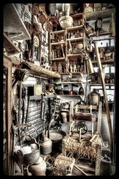Bicycle repair shop in Warrenpoint. I took this photo as it reminded me of one if those hidden object games.©Lol Bagnelle Photography.