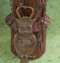 Bronze Owl Bottle Opener Necklace Bottle Opener by PursesonalStyle, $40.00