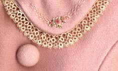 Wow, pink my favorite color, tatting and embroidery my favorite combination craft.