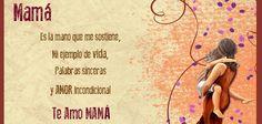 #Mamá Es la mano que me sostiene, mi ejemplo de vida, palabras sinceras y amor incondicional. Te Amo Mamá #Citas #Frases #Candidman