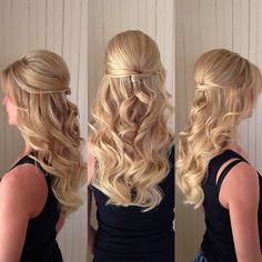 The best Prom hair styles. The best Prom hair styles. Prom Hairstyles All Down, Homecoming Hairstyles, Bride Hairstyles, Short Hairstyles, Prom Hair Down, Wedding Hair Down, Wedding Hair And Makeup, Hair Makeup, Mother Of The Bride Hair