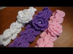 Còmo hacer una diadema o banda para el pelo, puntada a crochet. Muestra No. 25 - YouTube