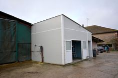 Milk parlour extension with prefabricated building completed view