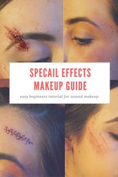 easy and cheap Halloween ideas for special … Halloween makeup tutorial. easy and cheap Halloween ideas for special effects/ theater makeup! How to do a black eye/ bruise makeup. how to give yourself fake stitches Bruises Makeup, Wound Makeup, Scar Makeup, Fx Makeup, Palette Urban Decay, Stitches Makeup, Fake Wounds, Black Eye Makeup, Makeup Guide