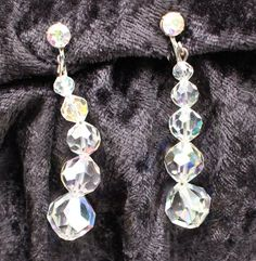 Items similar to COE # 105 Vintage Silver Tone Faceted Crystal Ball Dangle Clip On Earrings on Etsy Faceted Crystal, Crystal Ball, Vintage Crystal Chandelier, Chandelier Earrings, Vintage Silver, Dangles, Crystals, Bracelets, Jewelry