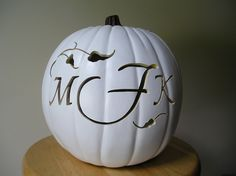 Custom Carved Pumpkin for Weddings and Fall