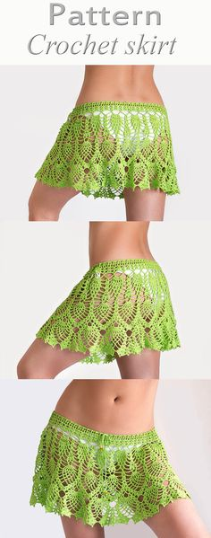 Crochet beach skirt PATTERN PDF crochet cover up