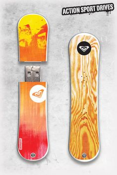 Roxy SnowDrive : Cadmium Tree USB Flash Drive // Action Sport Drives have teamed up with the best snowboard companies in the industry to create the original USB Flash Drive snowboard. We've combined this innovative design with Roxy graphics like their Cadmium Tree Model.    Now you can get your favorite snowboard graphics, and transfer files in style.